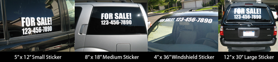 For Sale Advertising Decals Group Shot